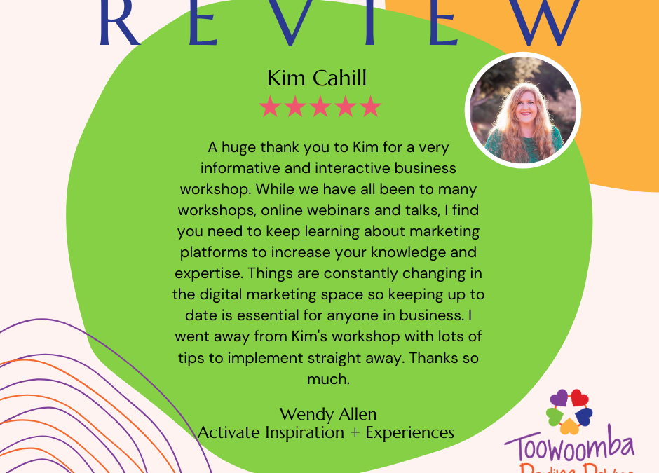 Latest REVIEW from Wendy at Activate – Inspiration & Experiences
